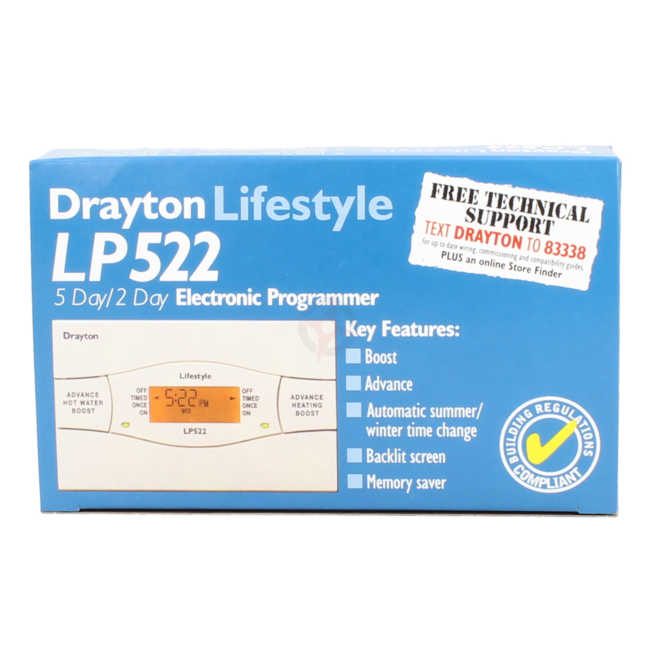 Drayton 5 Day/2 Day Electronic Programmer LP522