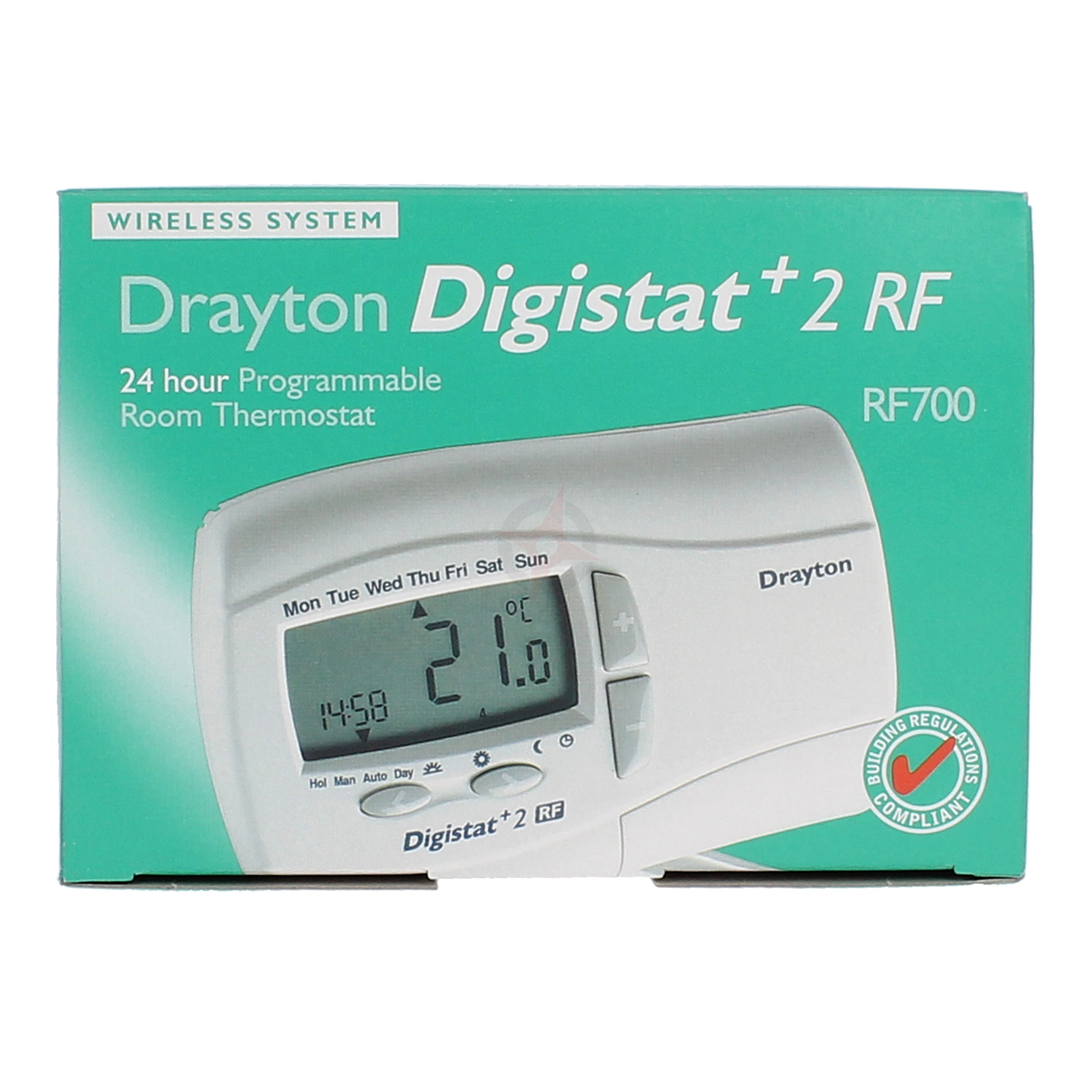 Drayton 24 Hour Programmable Room Thermostat Digistat+2RF