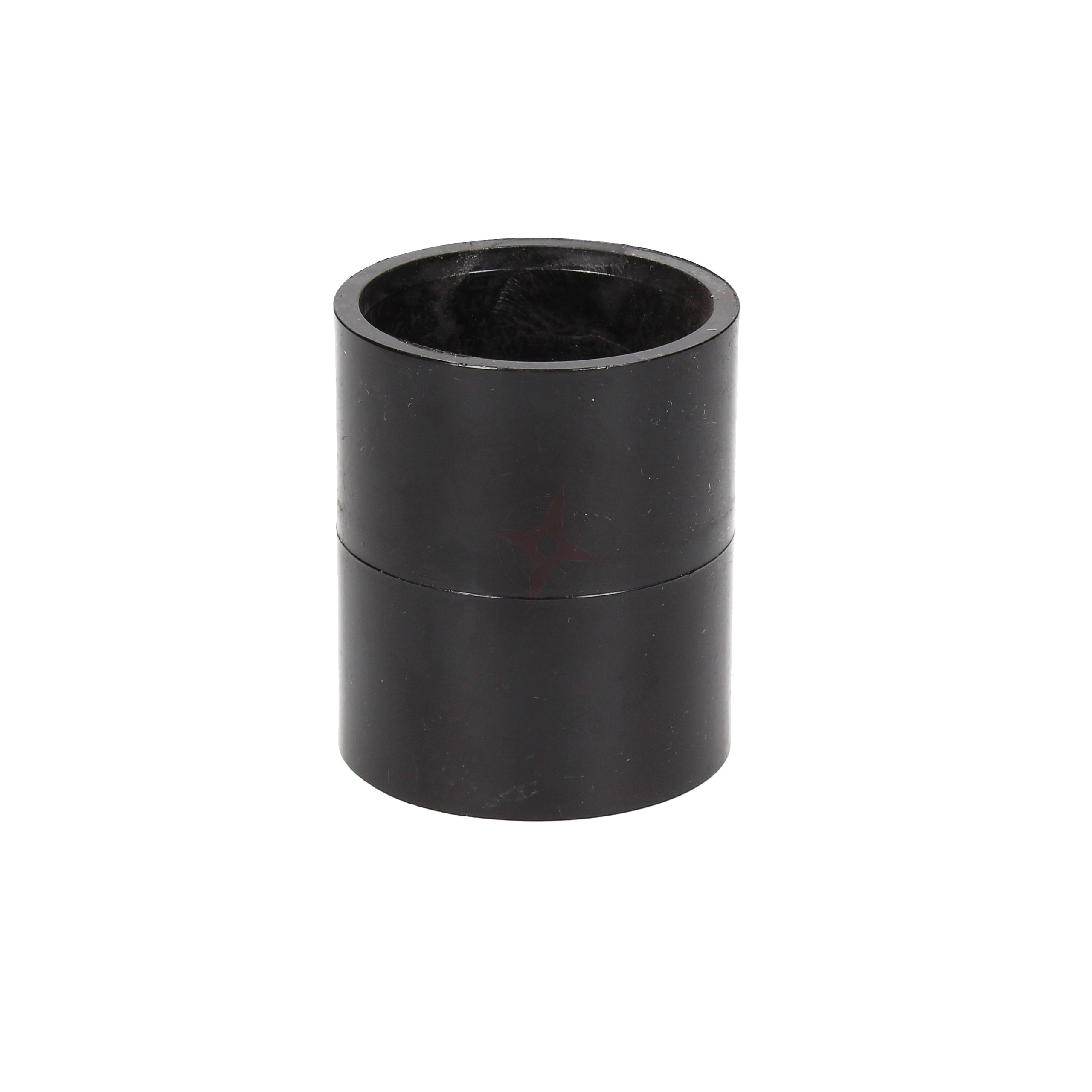 Black 36mm Solvent Waste Straight Coupler