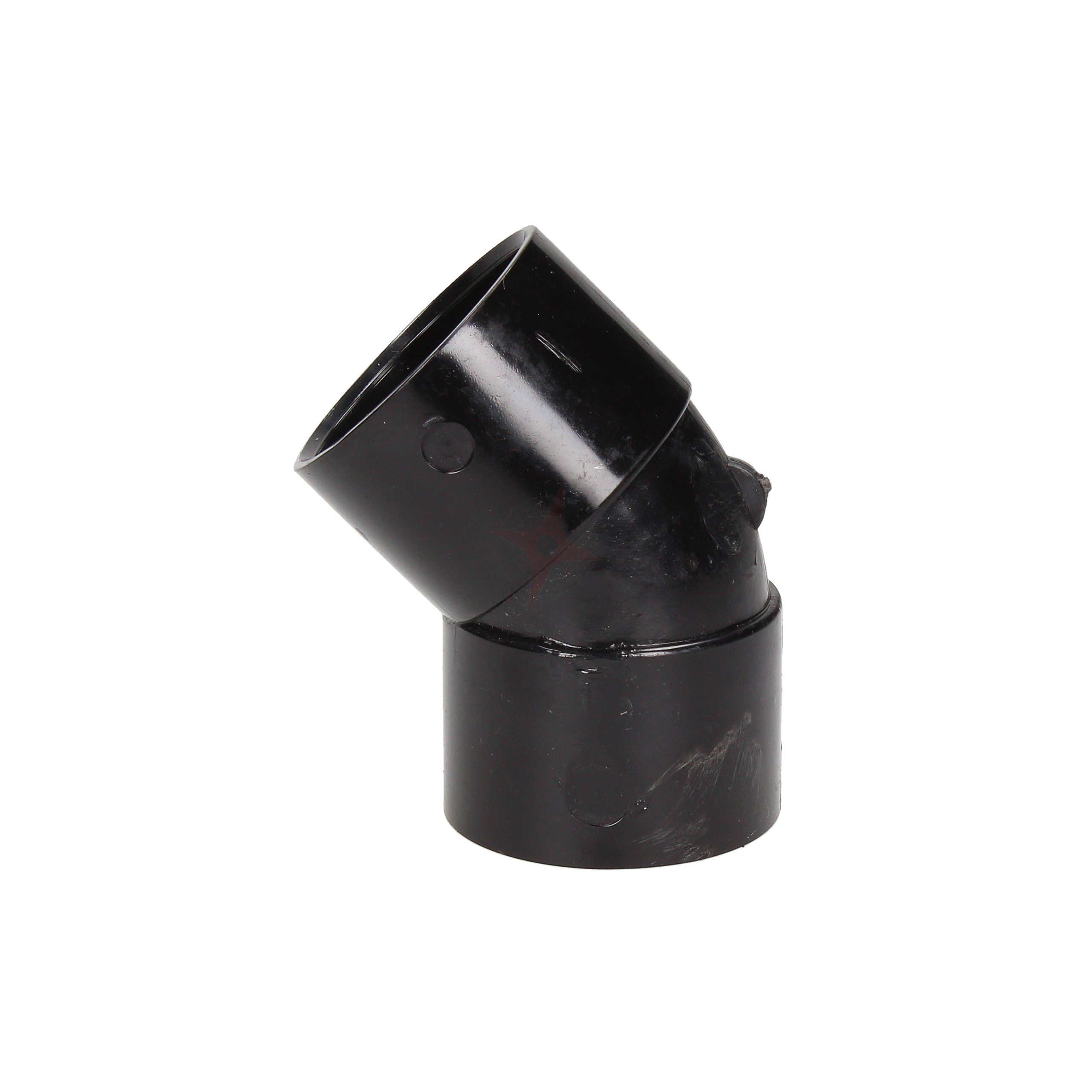 Black 36mm Solvent Waste 45 Degree Obtuse Bend