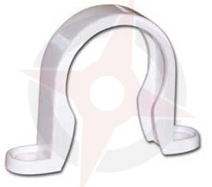 White 36mm Solvent Waste Sadle Clip