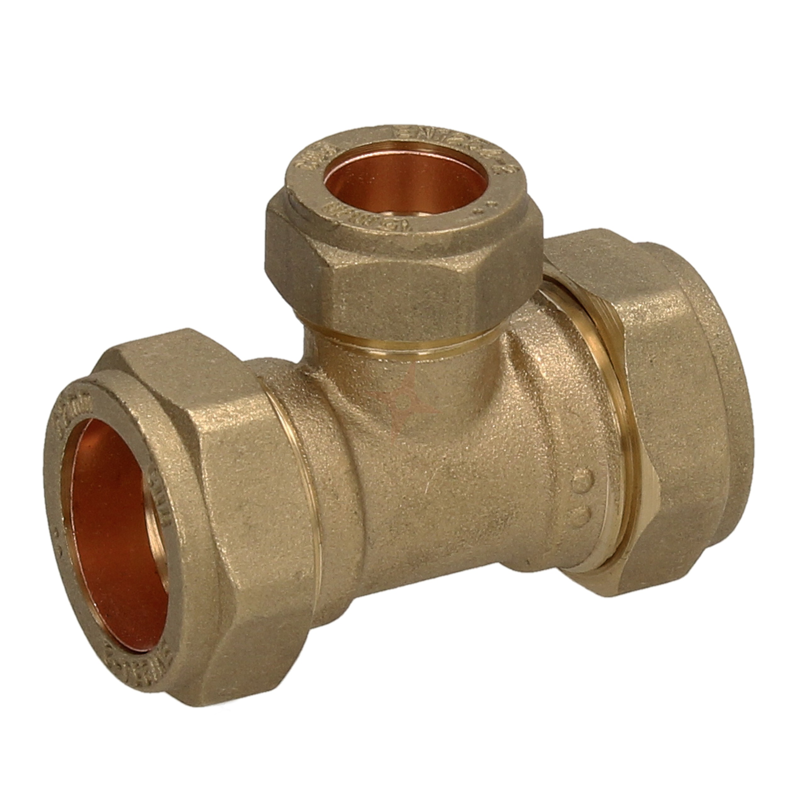 Compression 22mm x 22mm x 15mm Reducing Tee