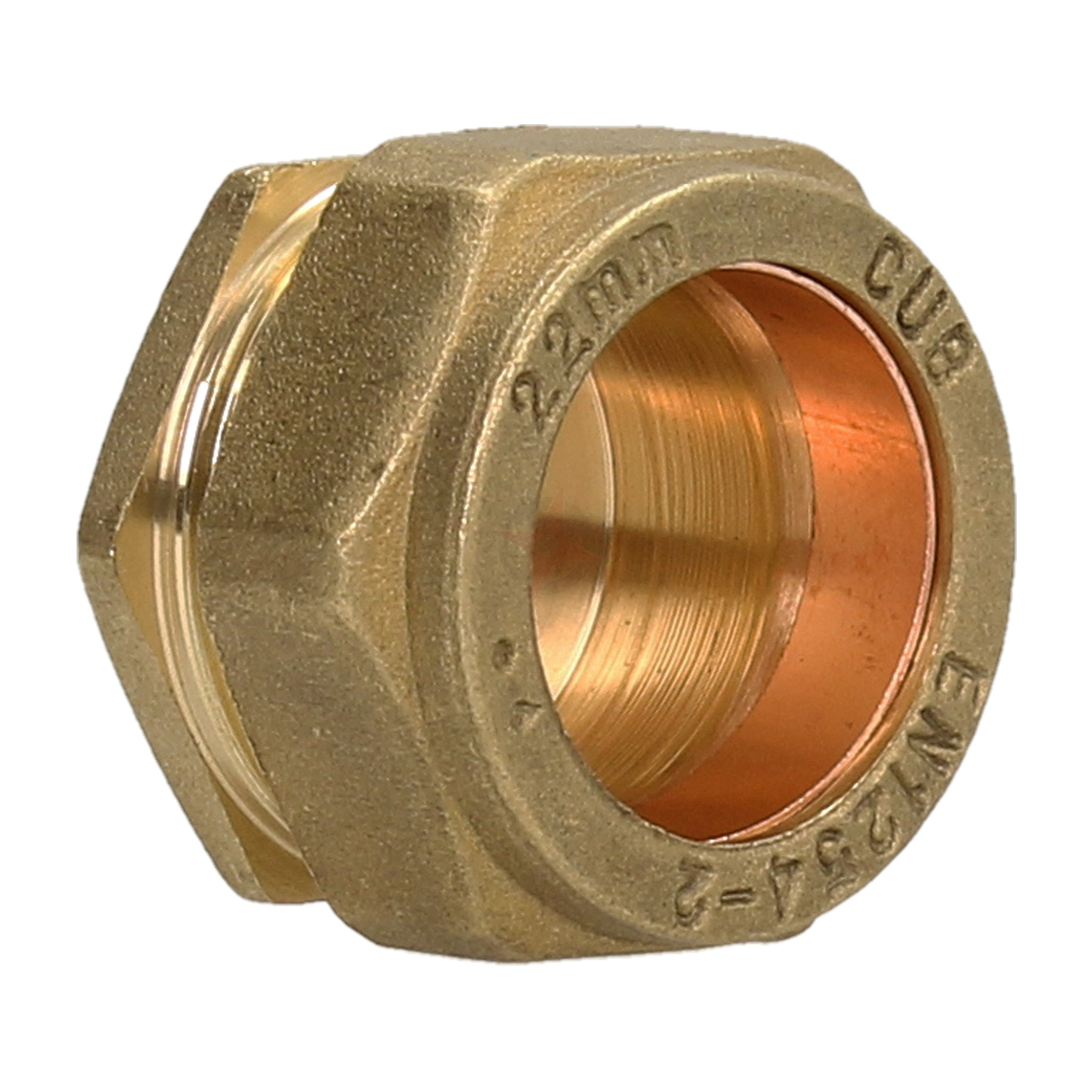 Compression 22mm Stop End