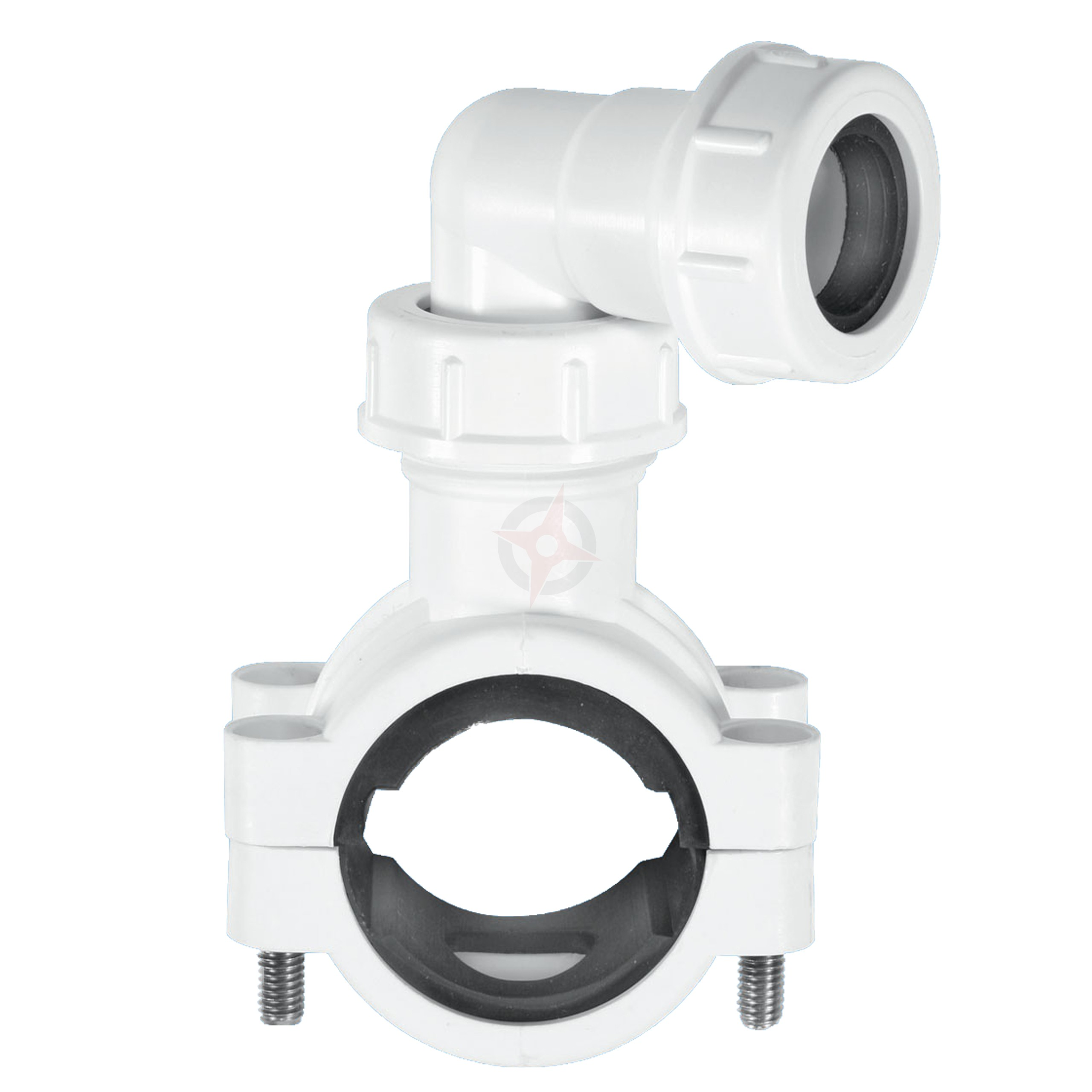 McAlpine White Pipe Clamp For 32mm and 40mm Pipe