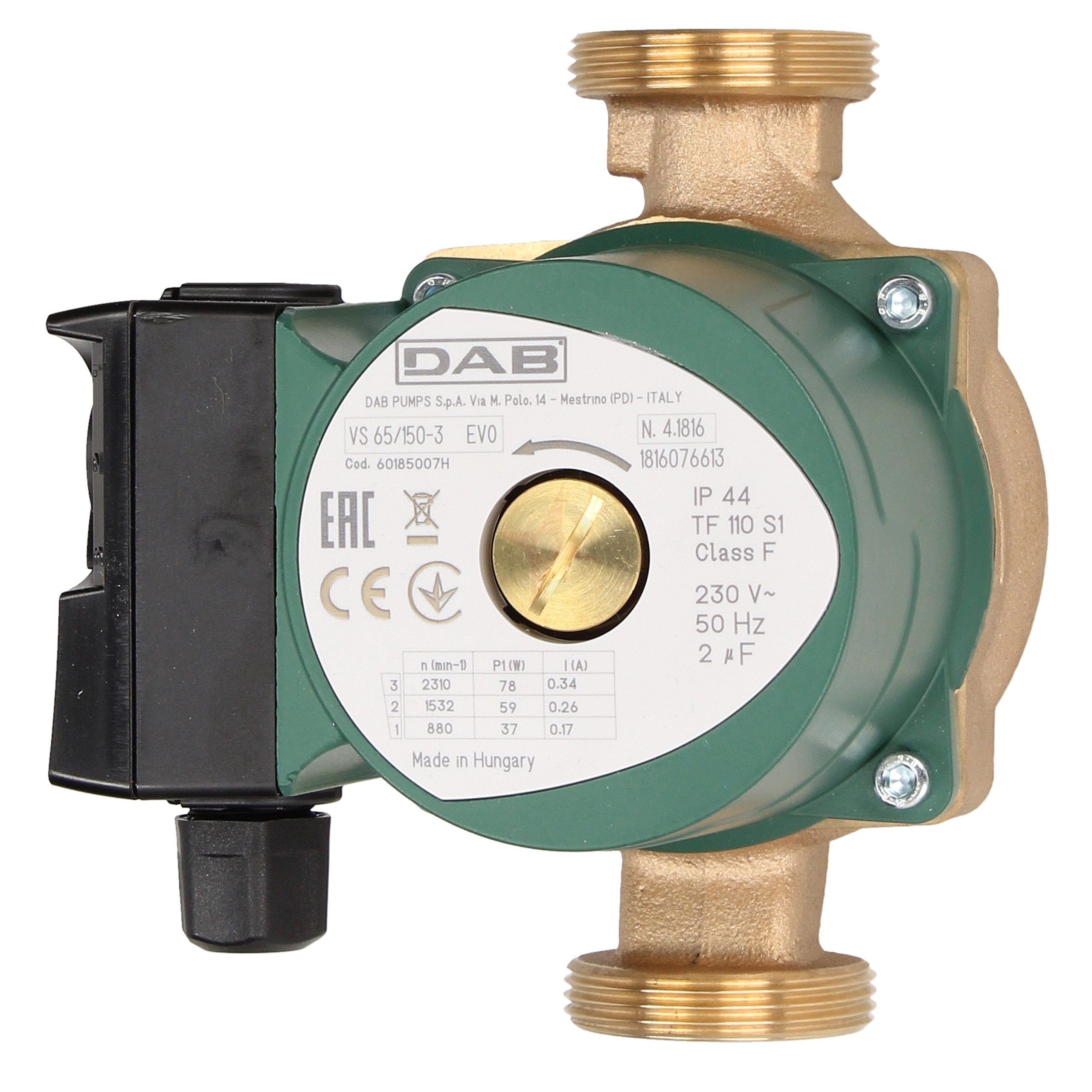 DAB Bronze VS 65/150 Class F Hot Water Circulating Pump
