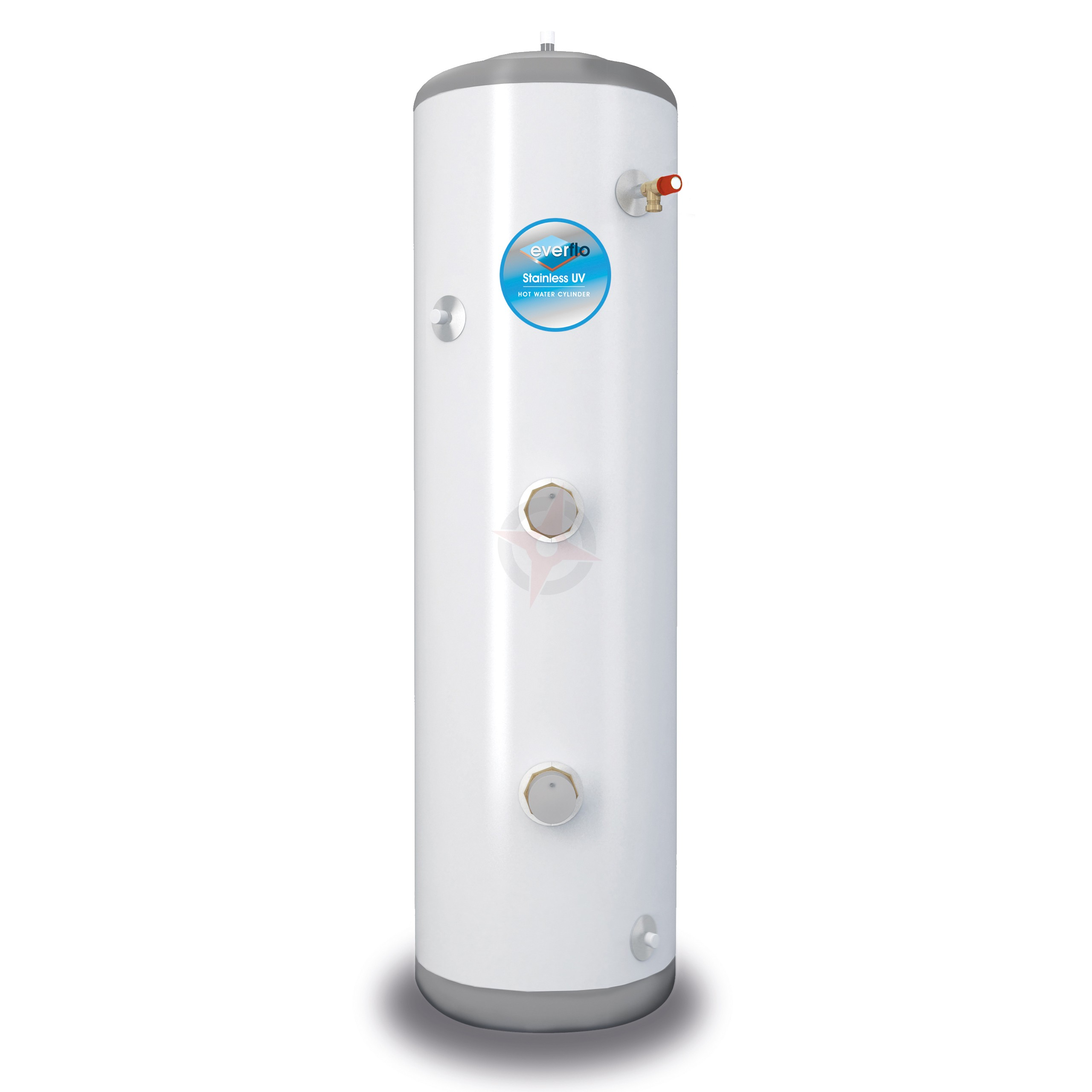 everflo Stainless 180L Slim-Fit Direct Unvented Hot Water Storage Cylinder & Kit