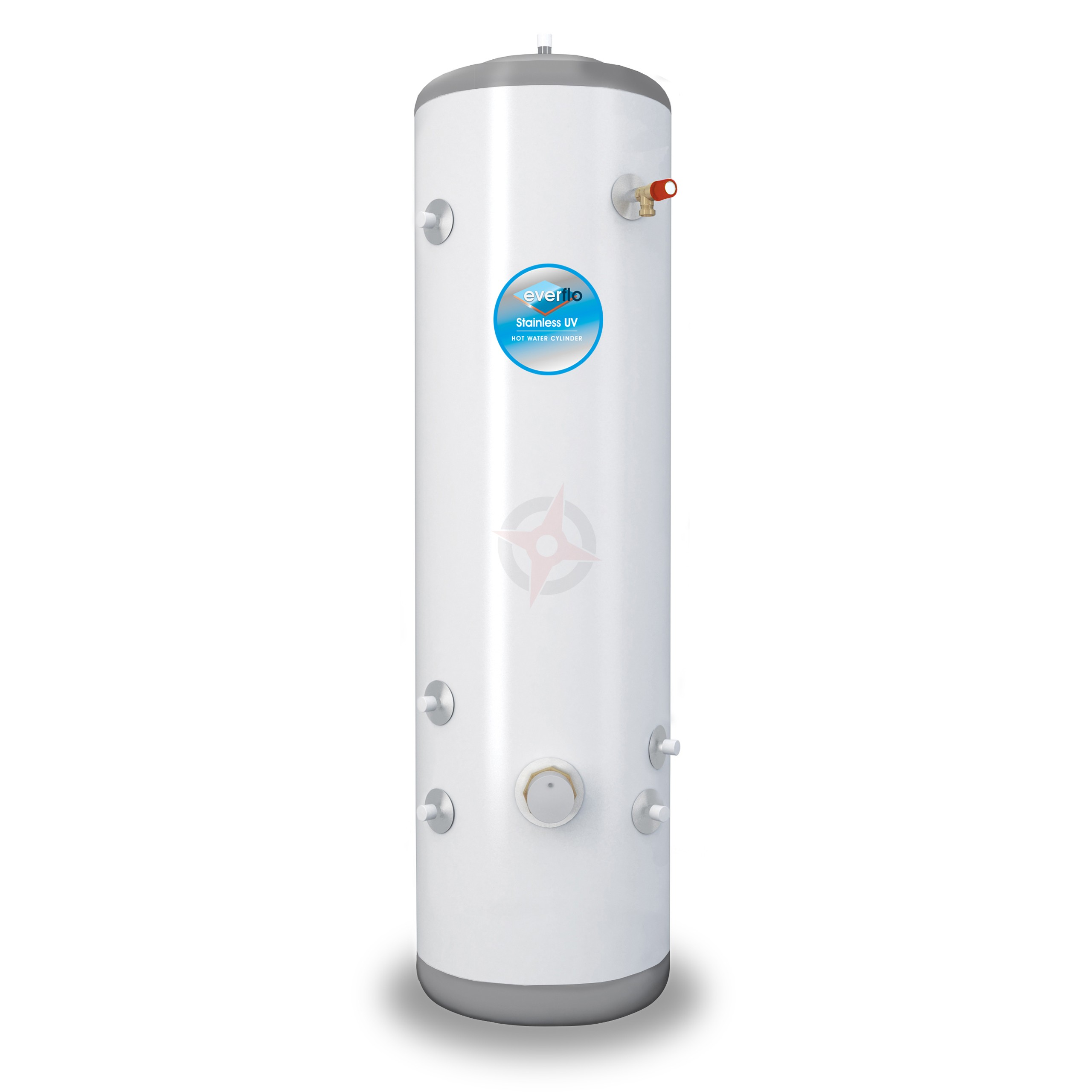 everflo Stainless 210L Slim-Fit Indirect Unvented Hot Water Storage Cylinder & Kit