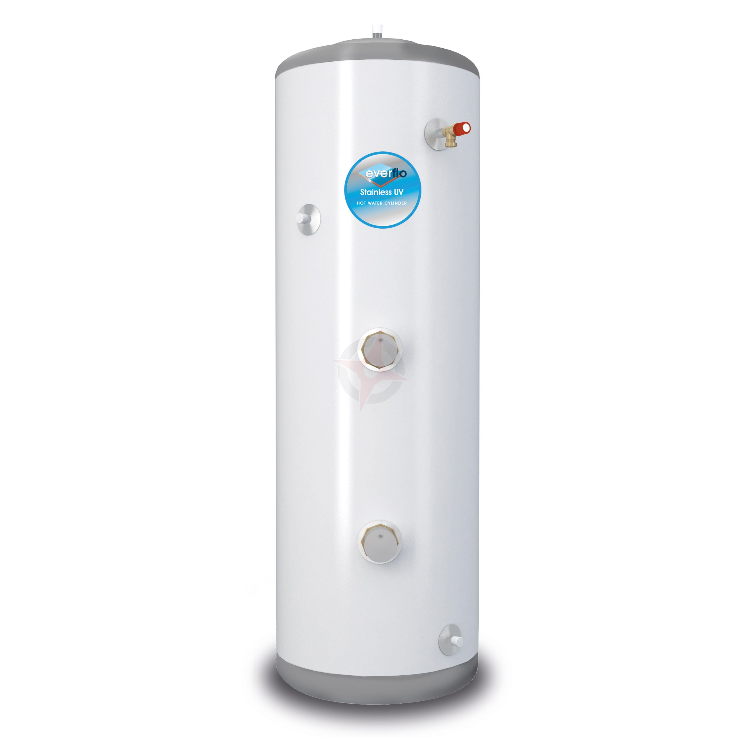 everflo Stainless 120L Direct Unvented Hot Water Storage Cylinder & Kit