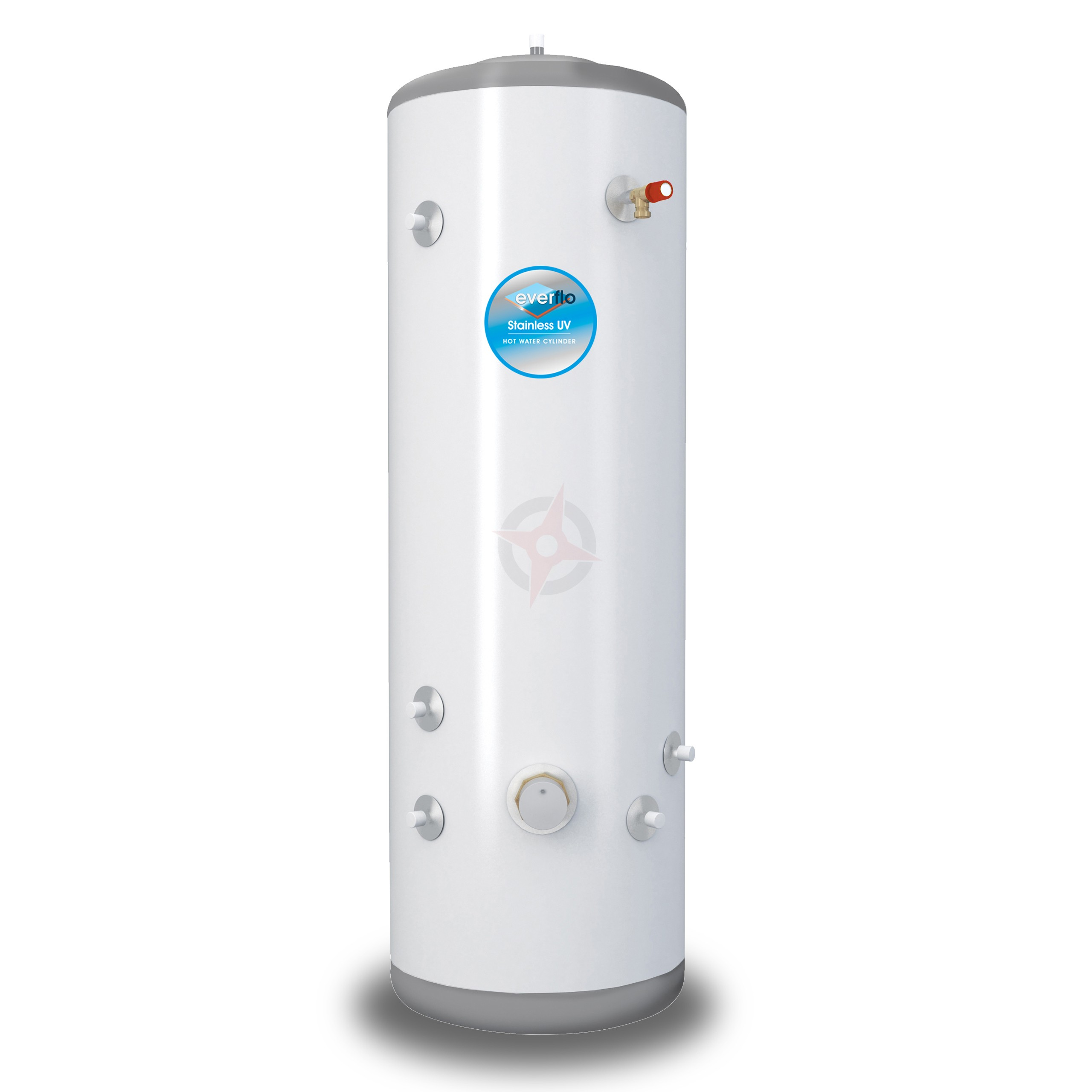 everflo Stainless 90L Indirect Unvented Hot Water Storage Cylinder & Kit