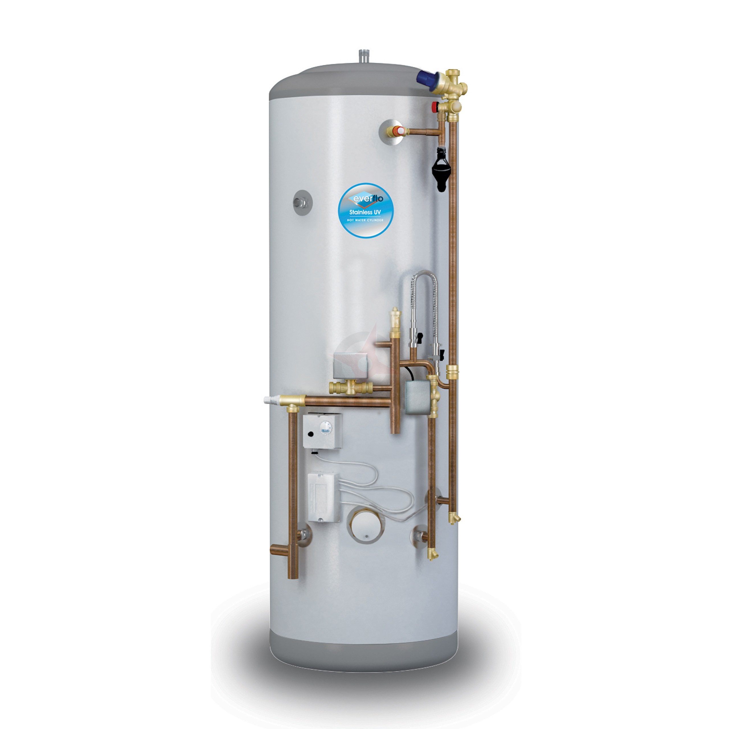 everflo Stainless 180L System Fit Unvented Hot Water Storage Cylinder
