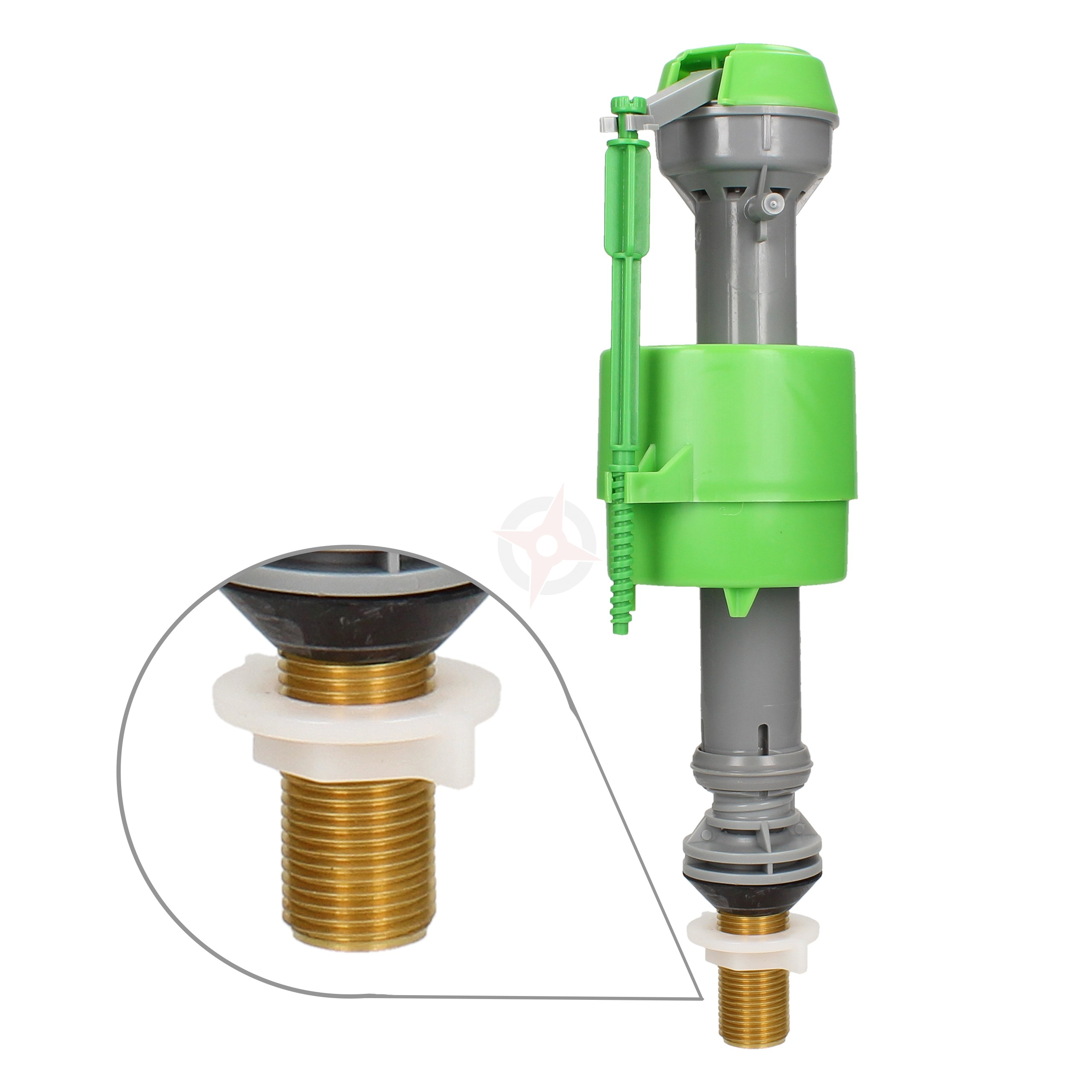 "FlushKING Adjustable Bottom Entry Fill Valve - Brass Shank (1/2"")"