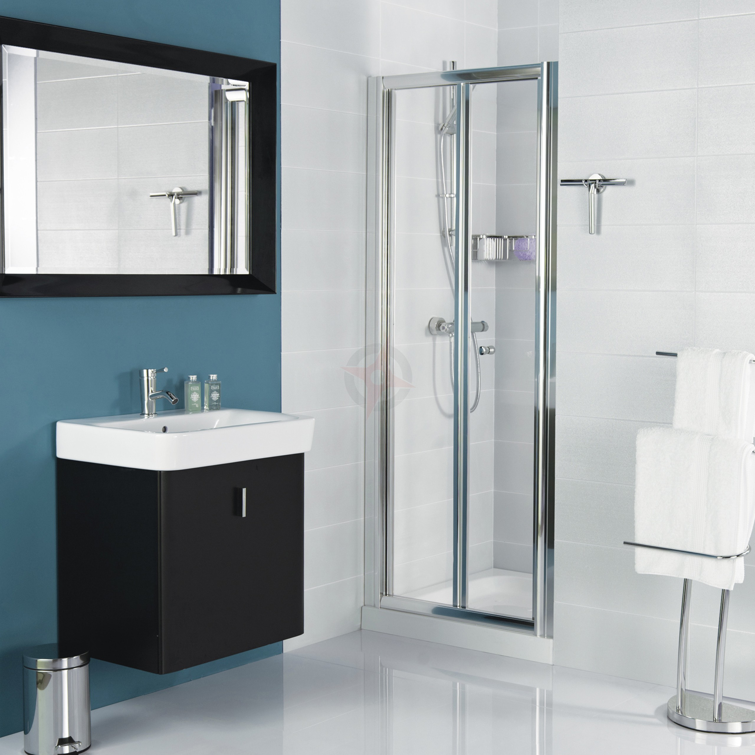 Haven Plus H3 900mm Bi Fold Shower Door By Roman Showers