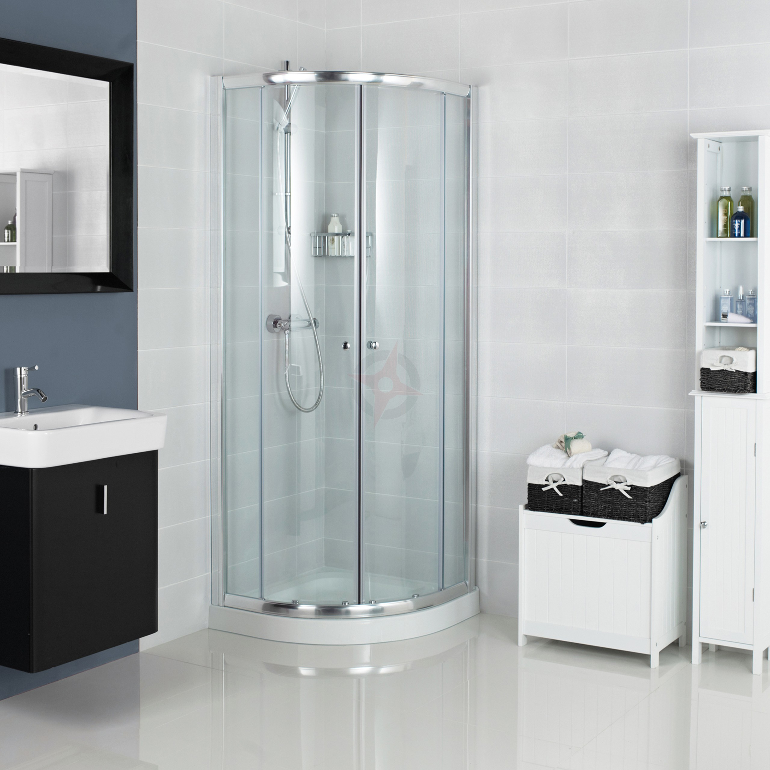 Haven Plus H3 900mm x 900mm 2 Door Quadrant Shower Enclosure c/w ...