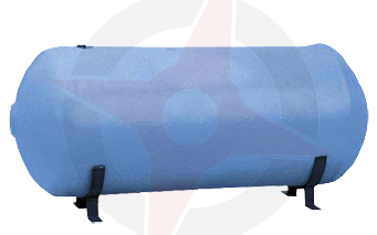 Horizontal 1500 x 450 Indirect Copper Cylinder