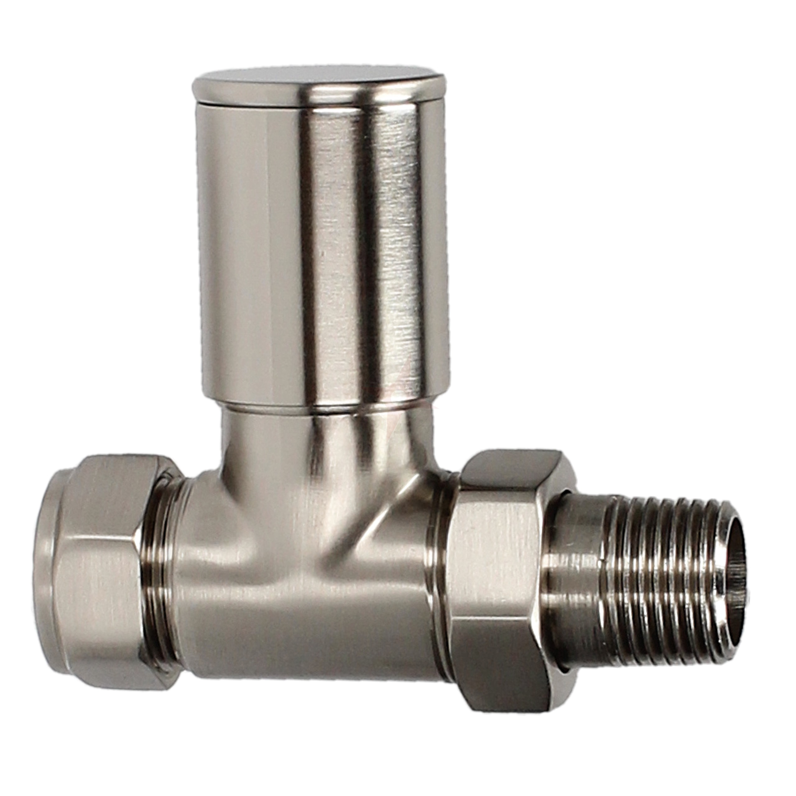 Evolve HP 15mm Silver Nickel Straight Wheel Head Valve