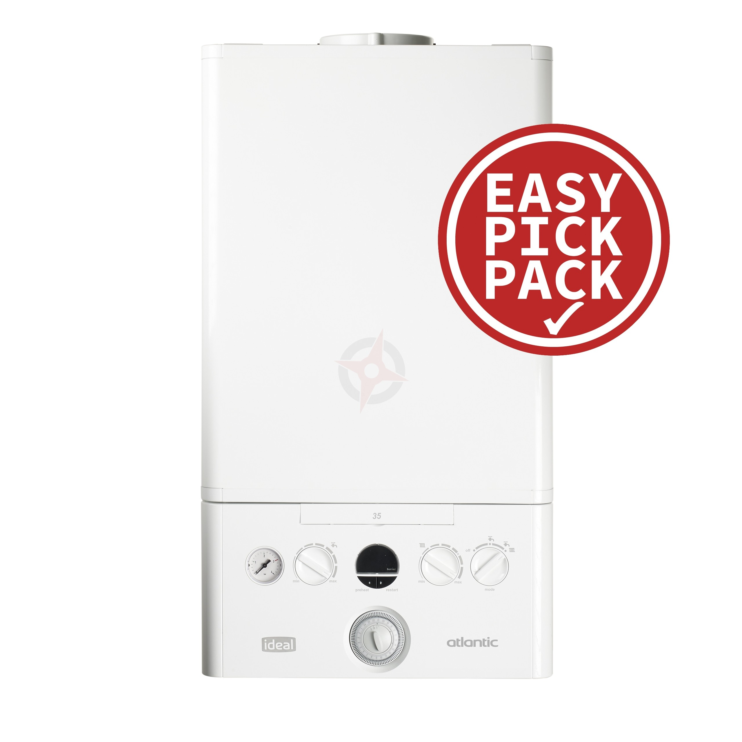 Ideal Atlantic 24 (ErP) Combi Boiler and Flue Easy Pick Pack