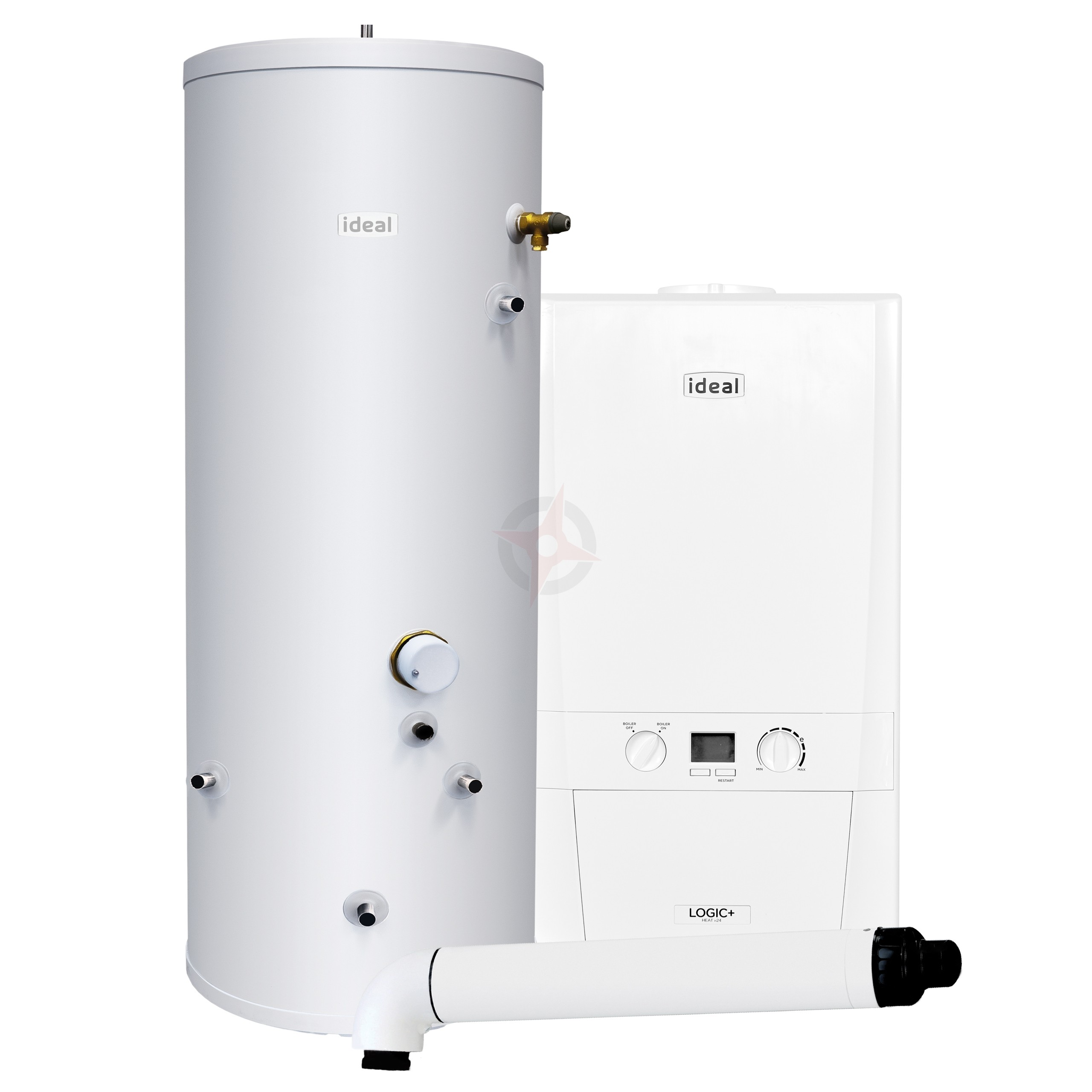 Ideal Logic+ 24 Heat Only Boiler, Horizontal Flue & Indirect Cylinder