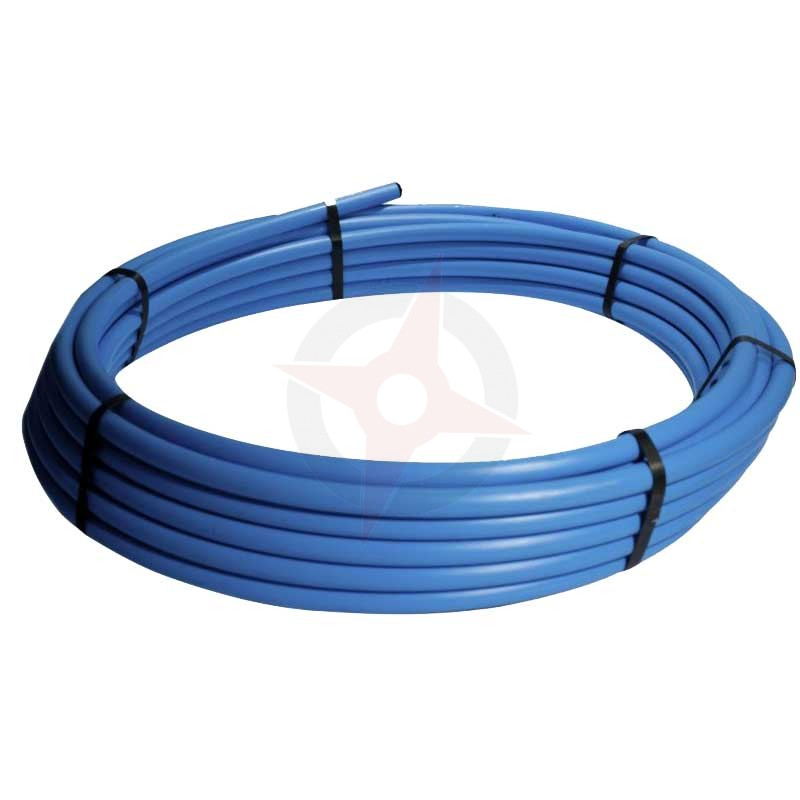 MDPE Pipe 20mm x 100 Metre Coil - Blue