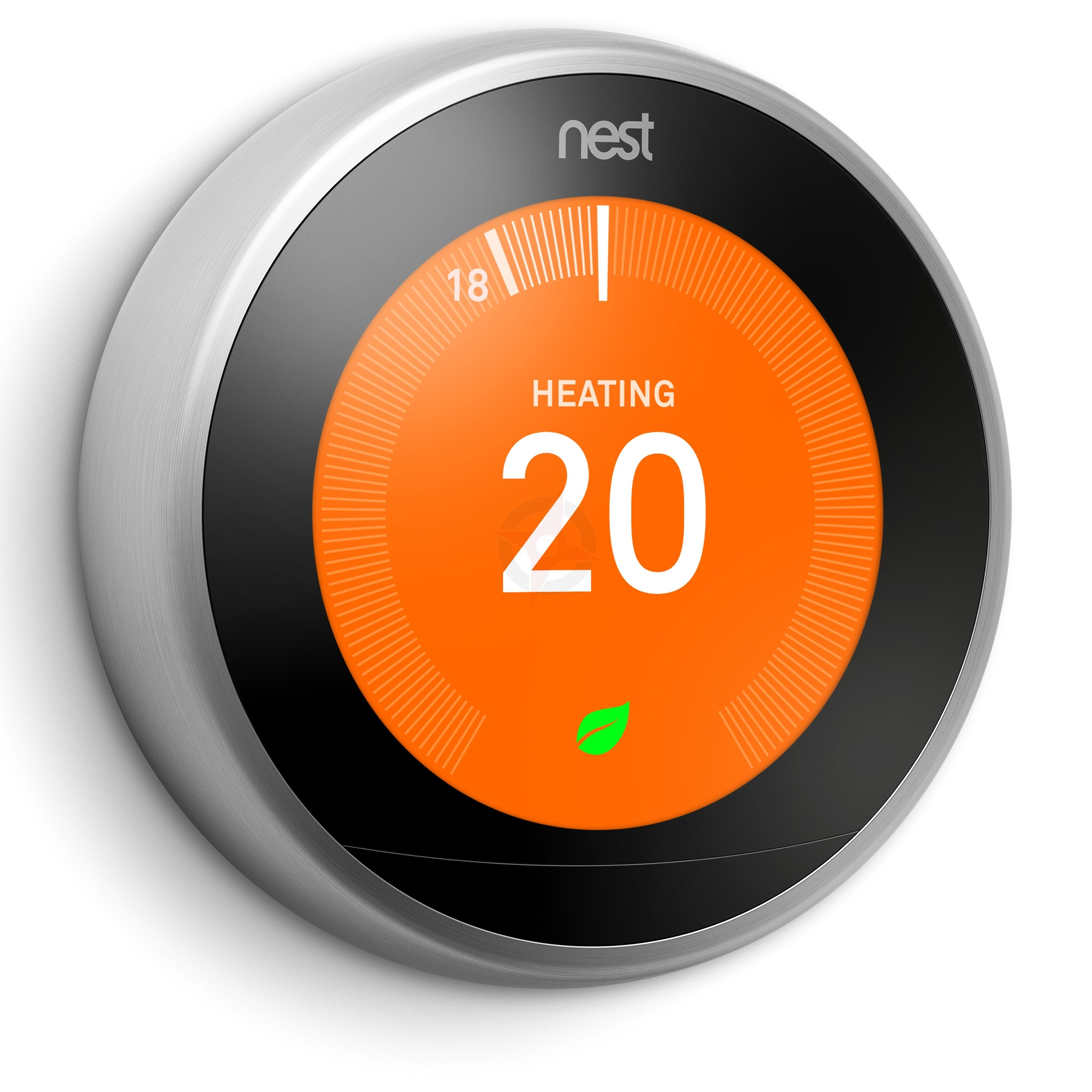 Google Nest Learning Thermostat, 3rd Generation - Stainless Steel