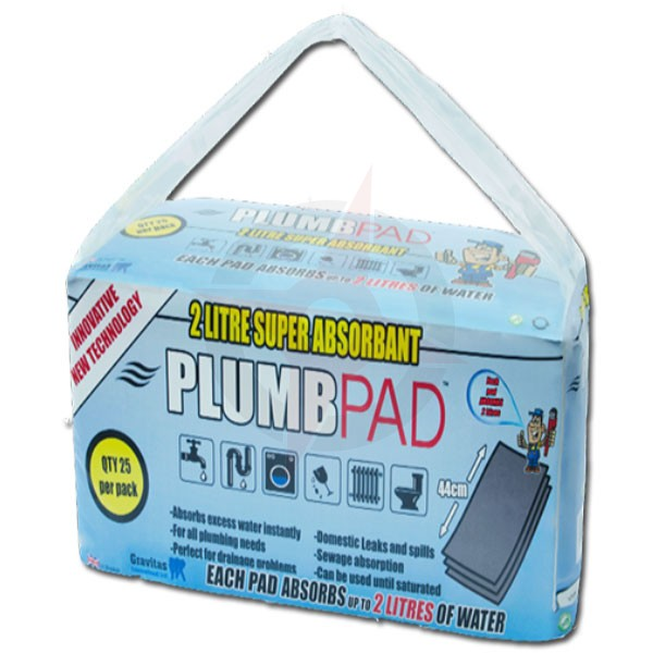 Plumbpad 2 Litre Absorbant Pads (Pack of 25)