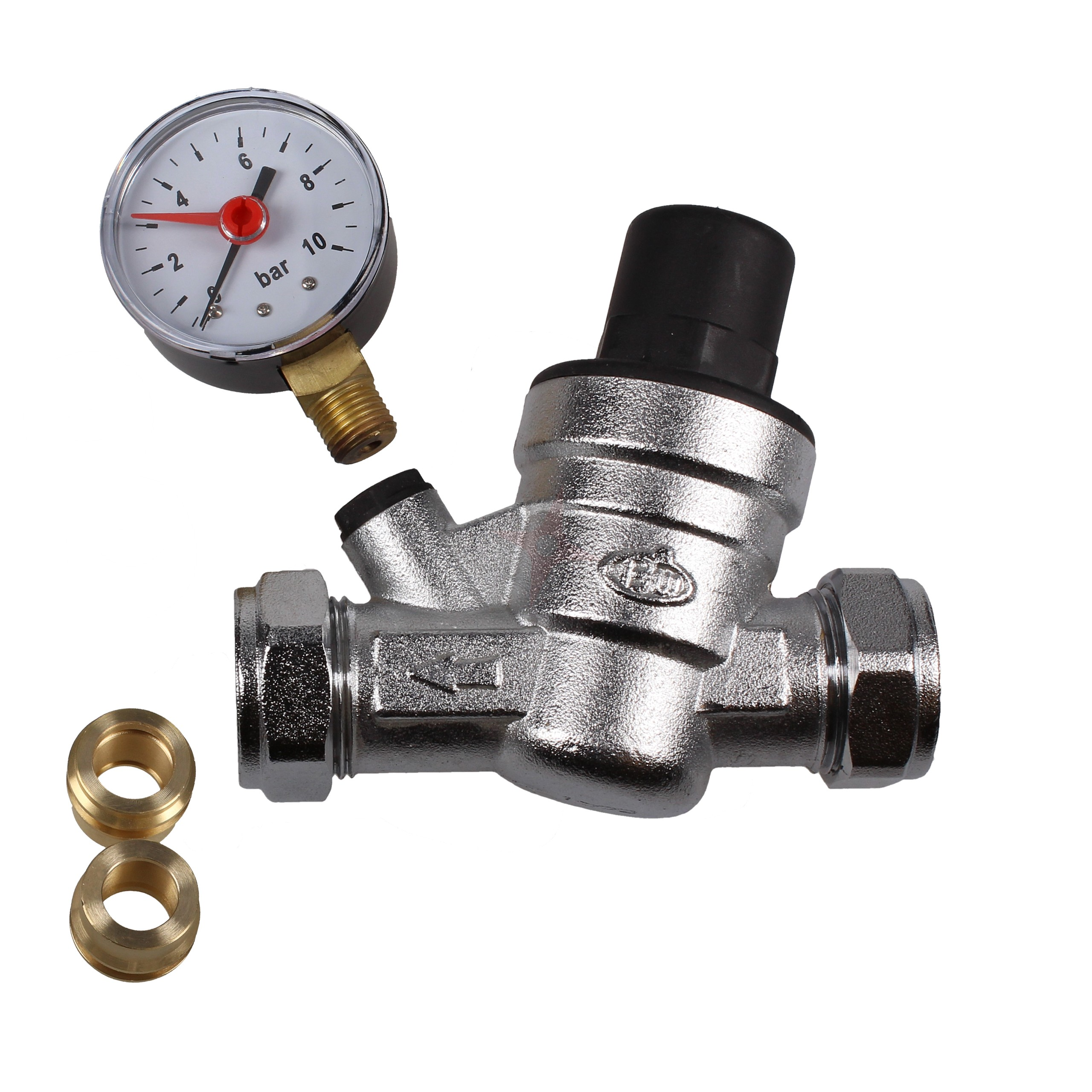 Evolve 15 & 22mm Pressure Reducing Valve c/w Gauge