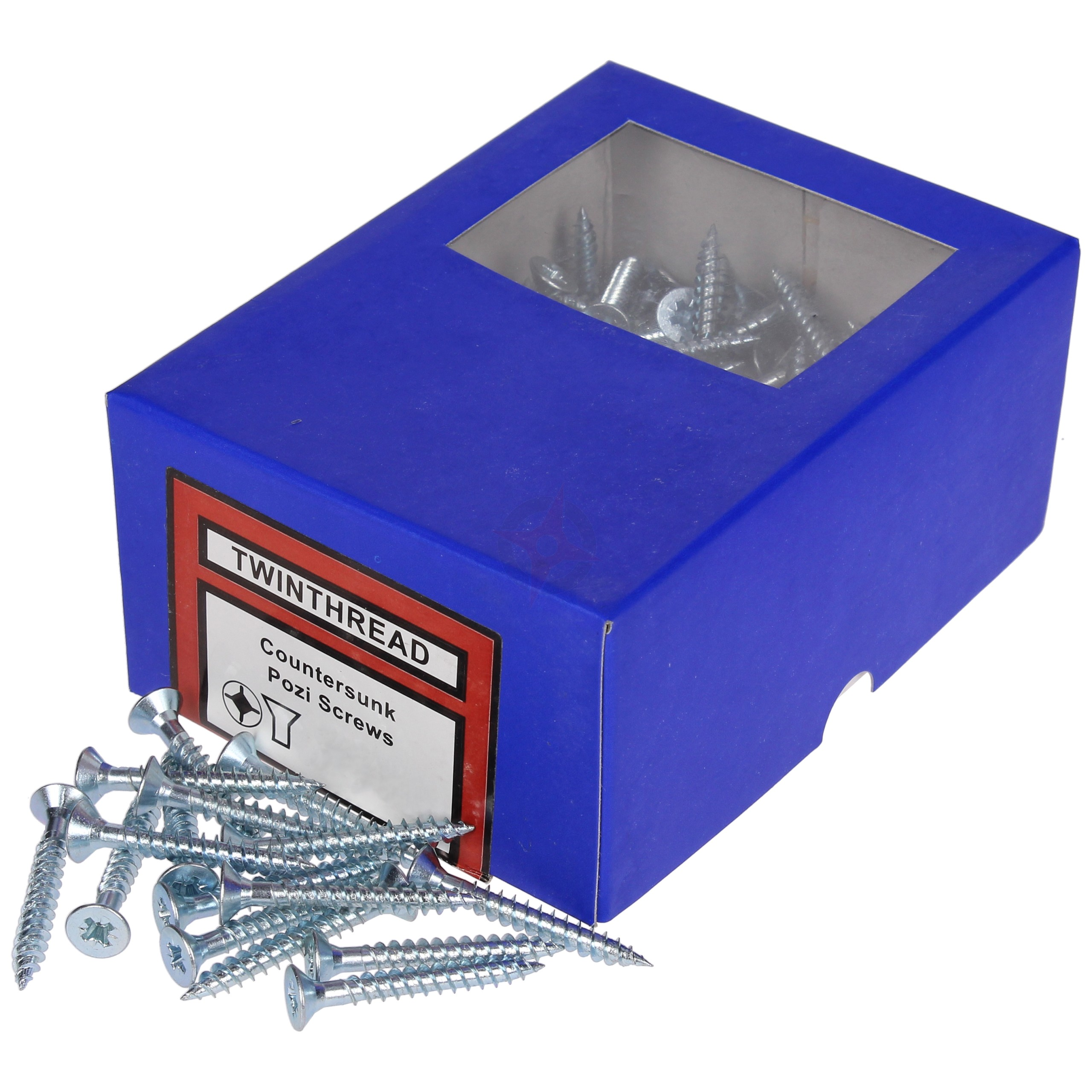 "1.1/2"" x 10 Twinthread Countersunk Pozi Woodscrew (box of 200)"