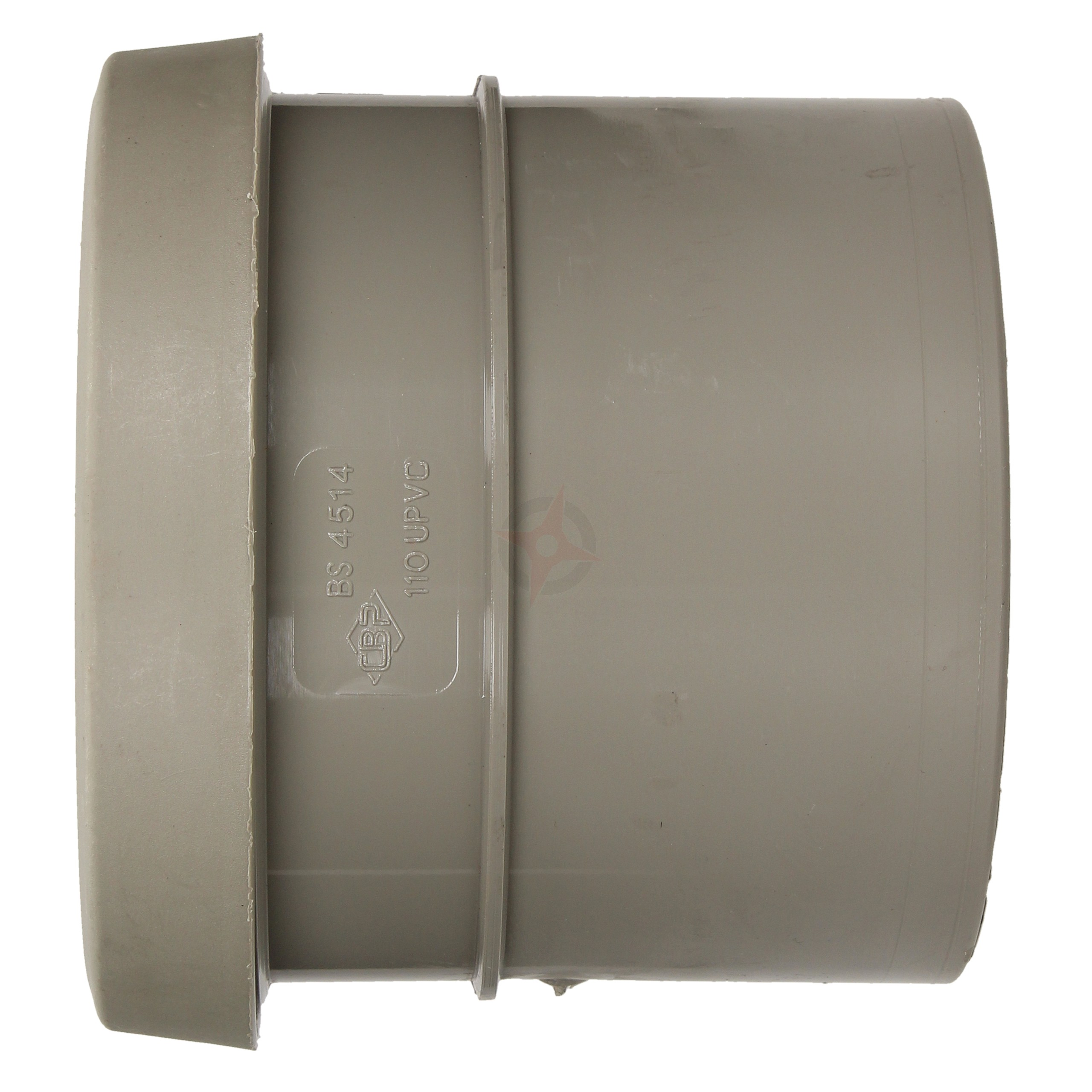 110mm Grey Ring Seal x Solvent Weld Soil Coupler