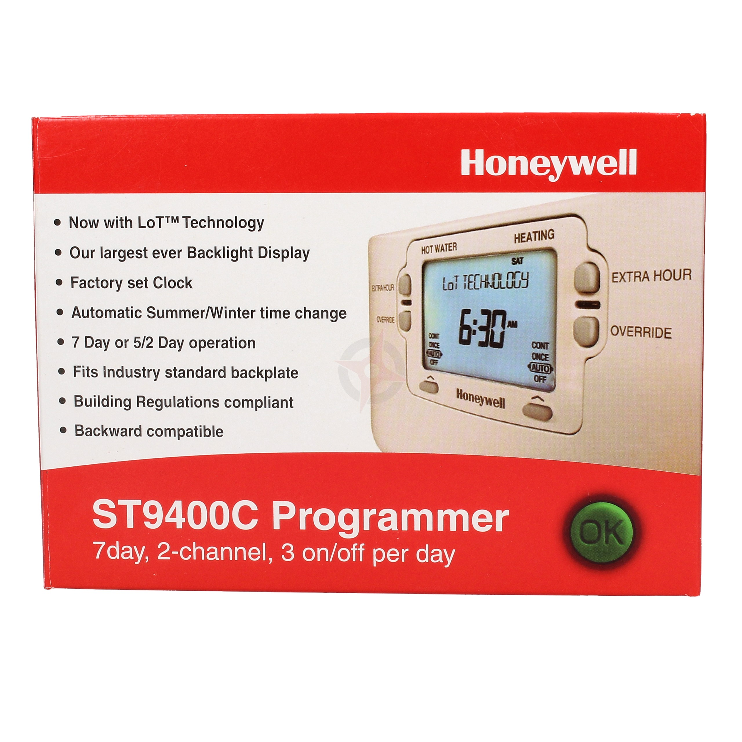 Honeywell 7 Day 2 Channel Programmer ST9400C