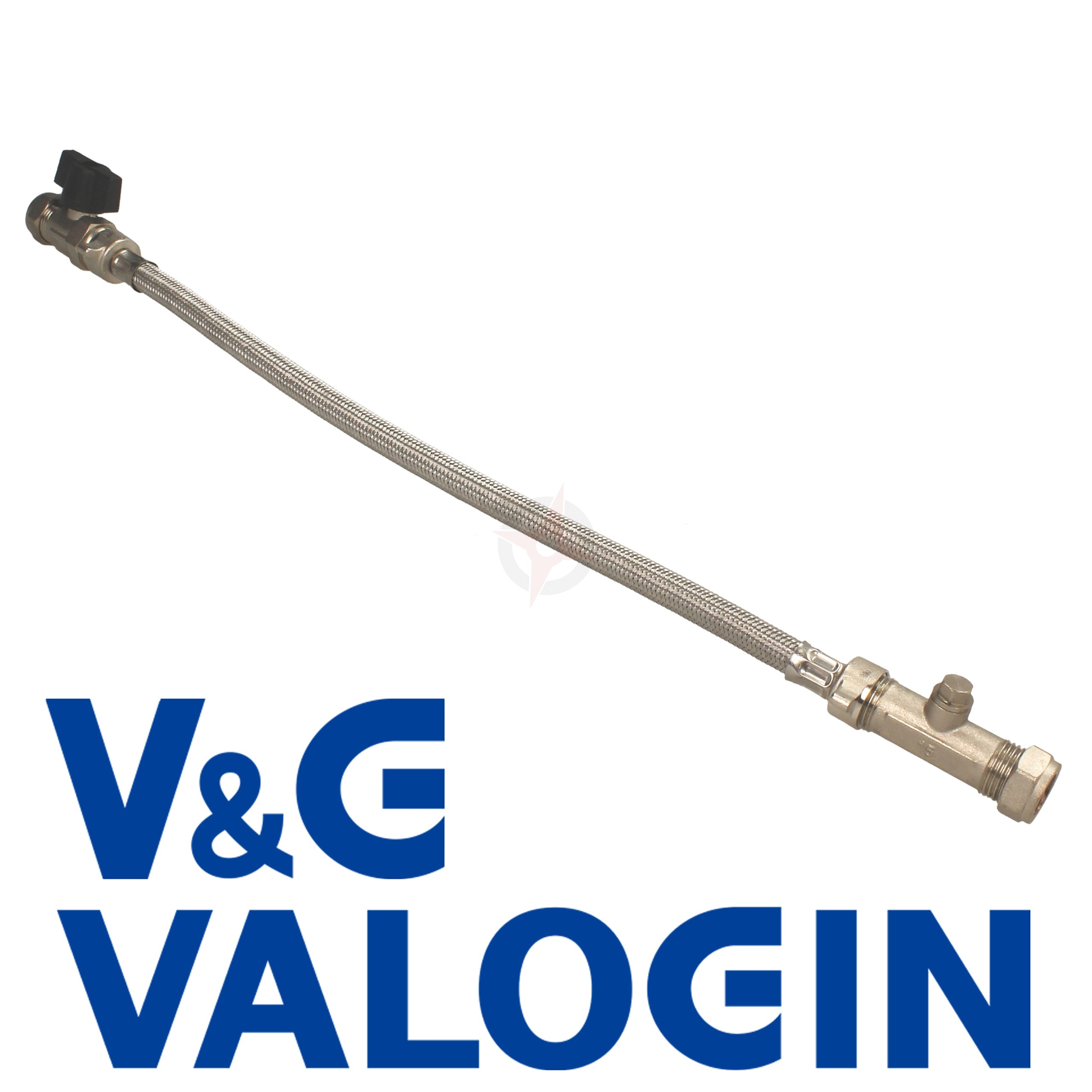 V&G Standard 15mm Compression Straight Filling Loop