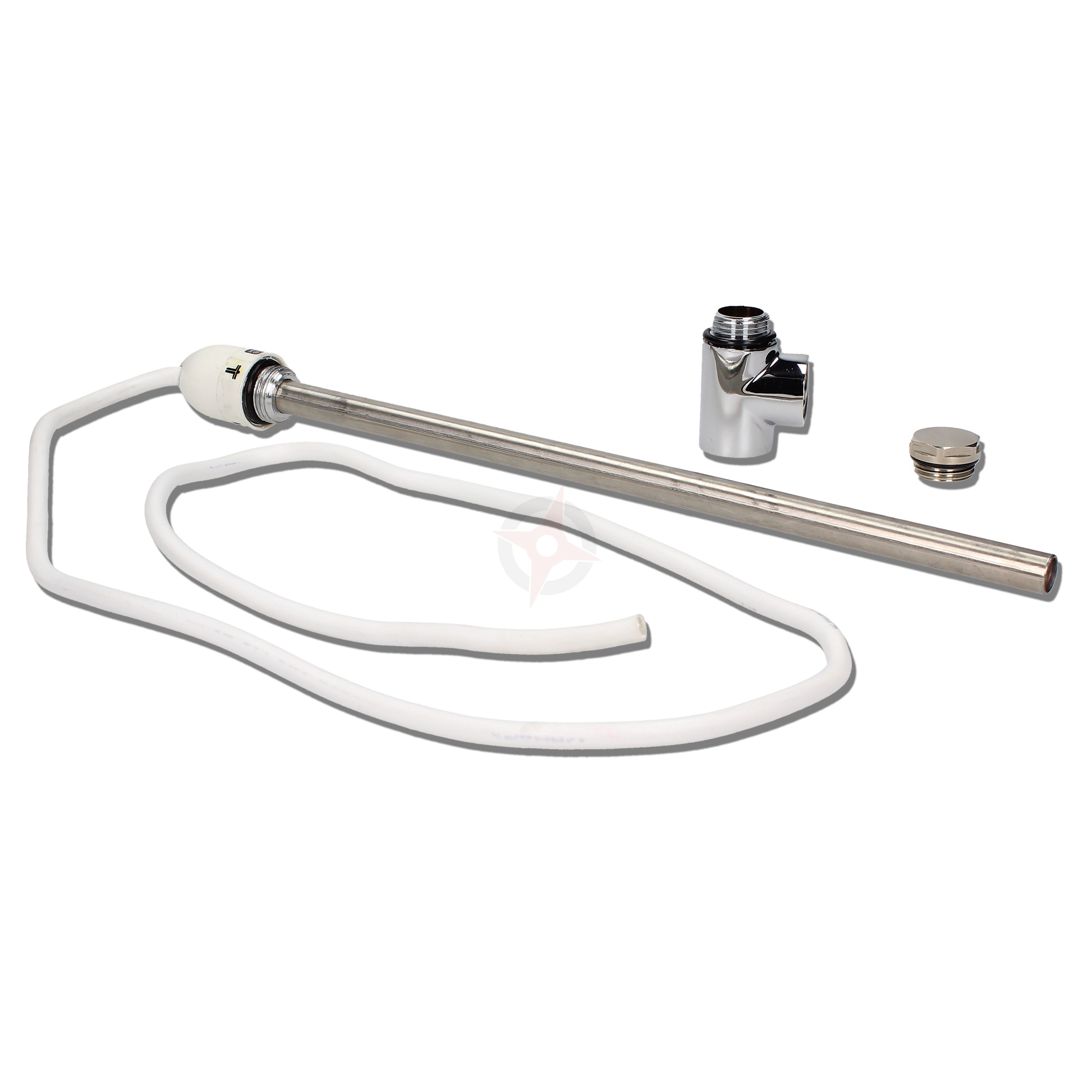 400 Watt Dual Fuel Towel Rail Summer Element c/w Tee Piece