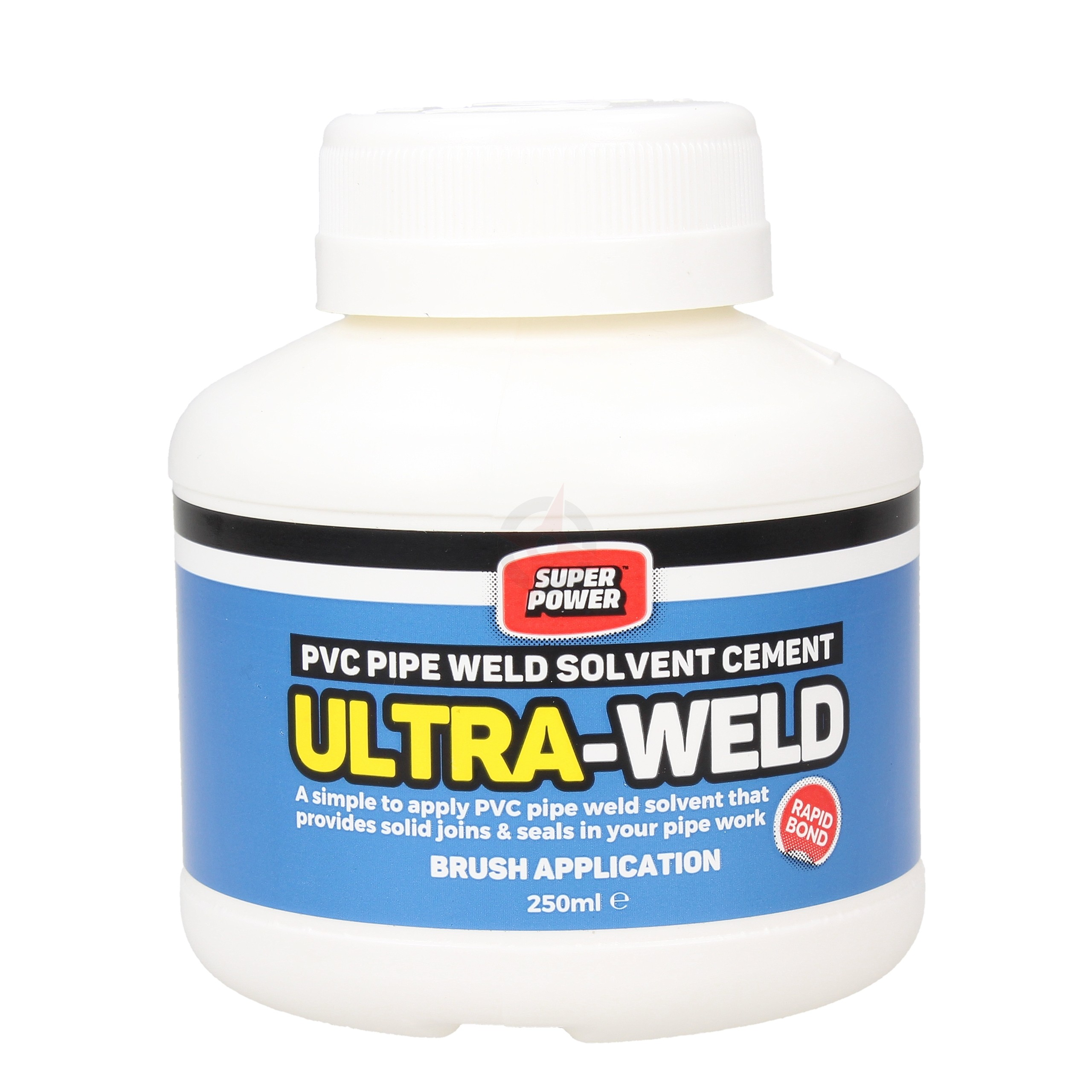 Super Power Ultra-Weld PVC Pipe Weld Solvent Cement - Small 250ml