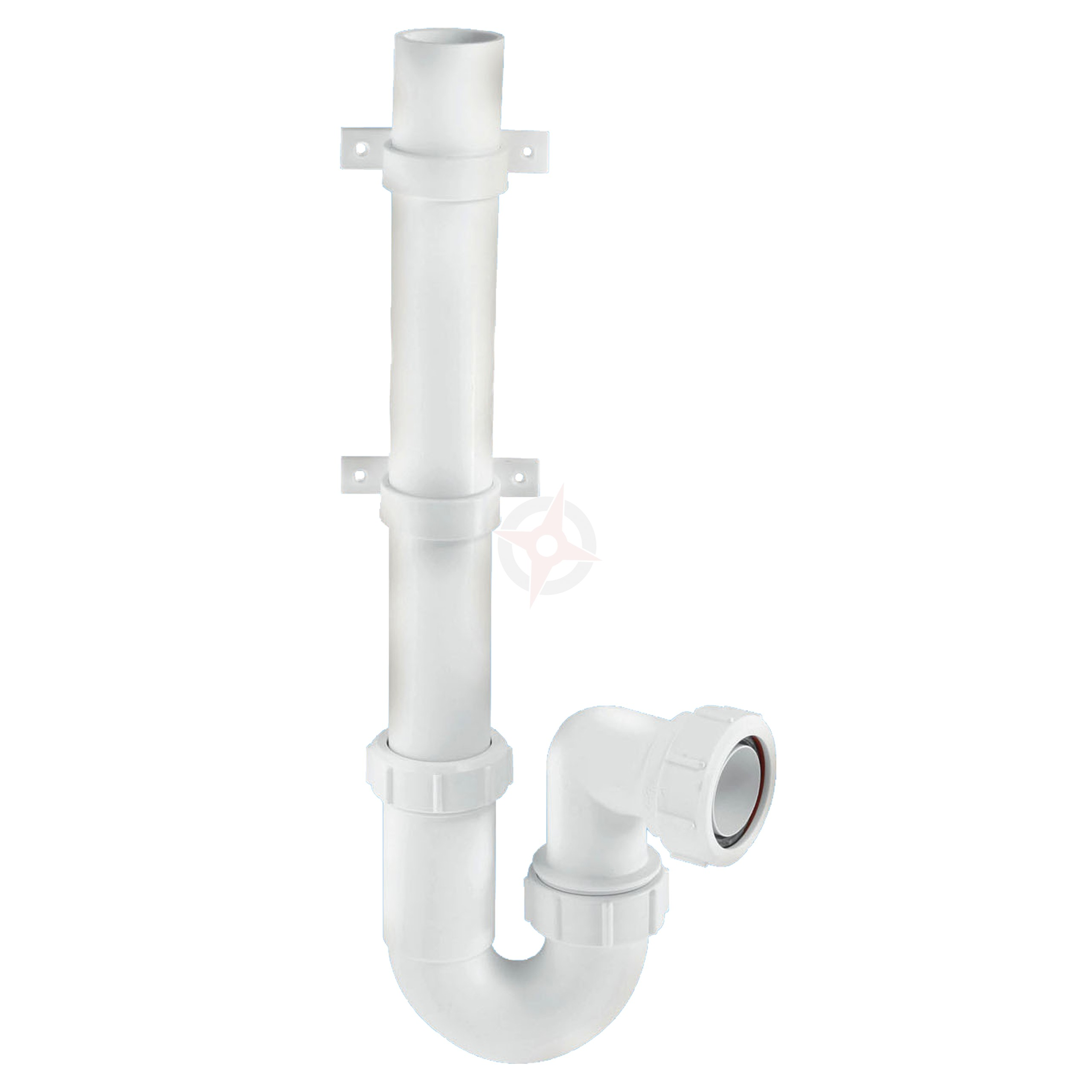 McAlpine 40mm White Washing Machine Upstand Trap WM3