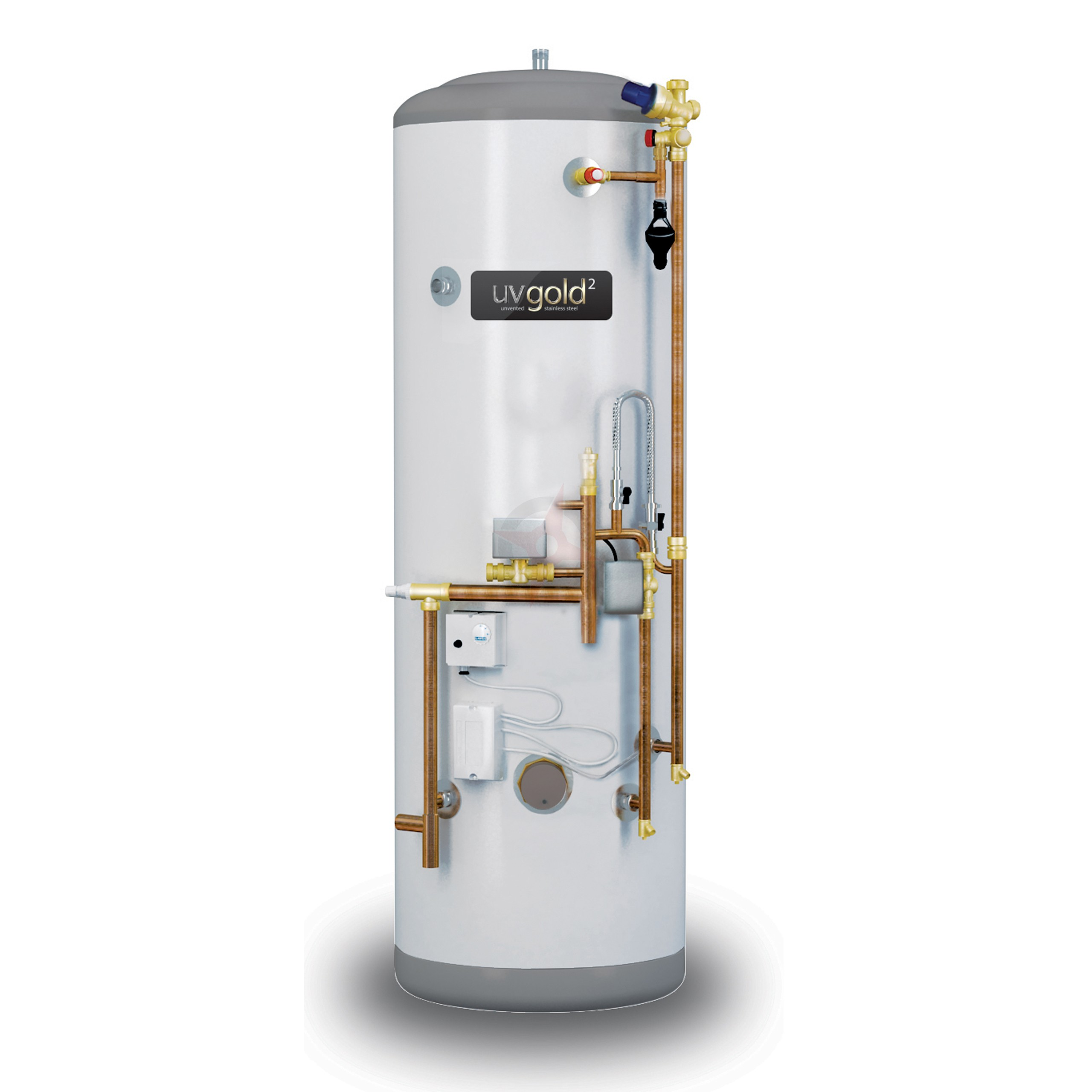 uvgold2 210L System Fit Pre Plumbed Unvented Hot Water Storage ...