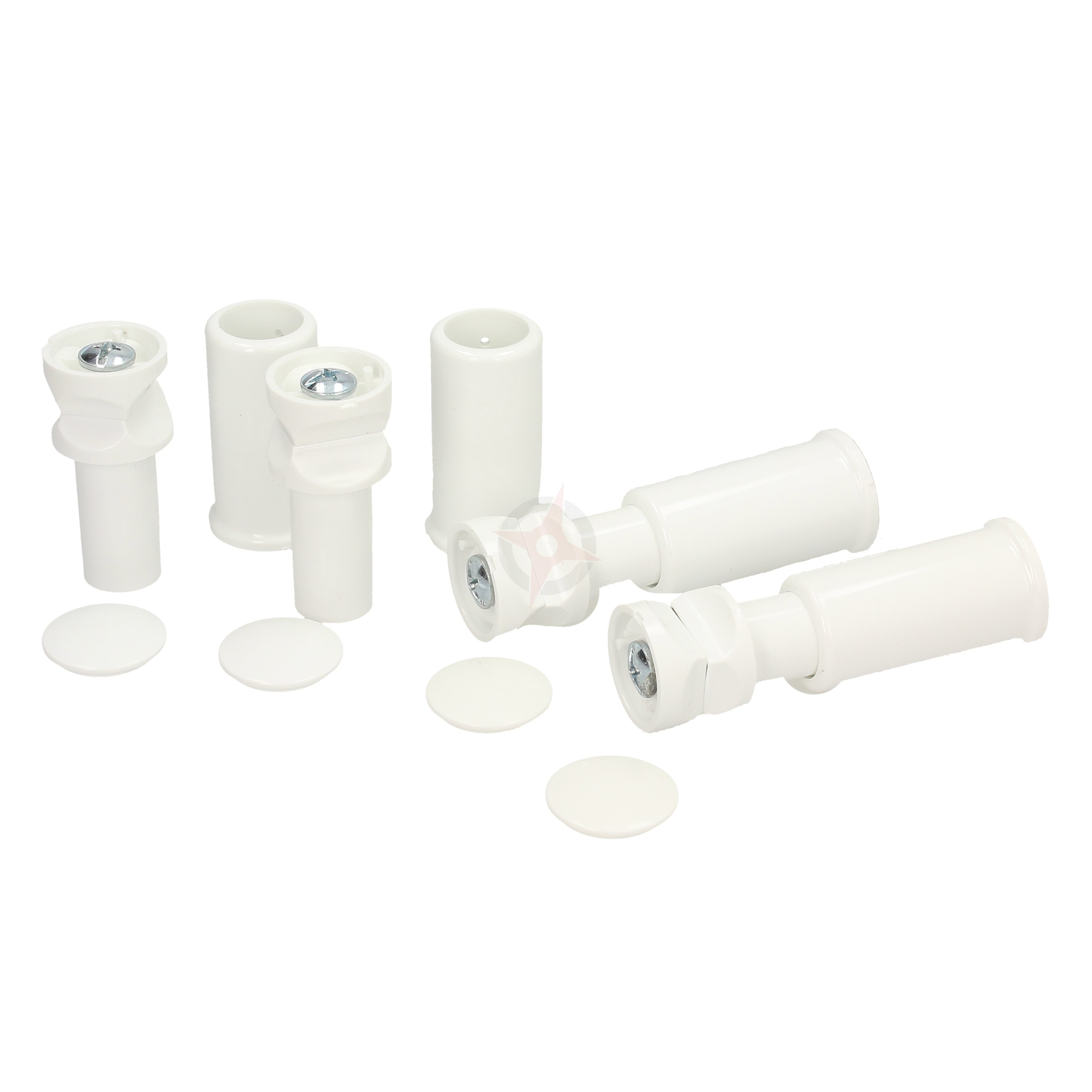 Revive White Spare Towel Rail Wall Mounting Brackets, Set of 4