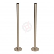 Silver Nickel 15mm x 300mm Tails and Decoration Floor Cover Plates (Pair)