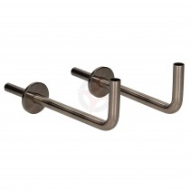 Black Nickel 15mm x 300mm Angled Pipe Tails and Decoration Wall Plates (Pair)