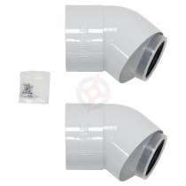 Vaillant 80/125 45 Degree Flue Bends (Pack Of 2)