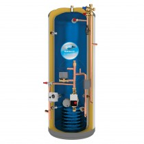 everflo Stainless 210L Pre-Plumbed Unvented Hot Water Storage Cylinder