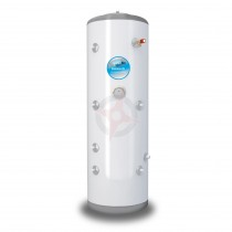 everflo Stainless 250L Twin Coil Unvented Hot Water Storage Cylinder & Kit