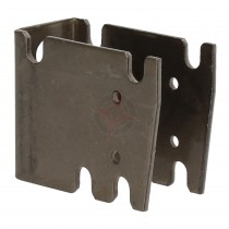 Revive Raw Metal Extended 45mm / 50mm Wall Plate for Column Radiators (CVD2)