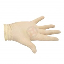 Pack of 100 Powder Free Latex Gloves - Large