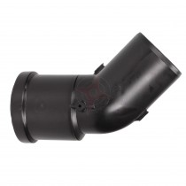 CLEARANCE - Convent+ Retro-Fit Black 45 Degree Plume Diverter Elbow (60mm)