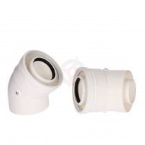 Vokera Pair Of 45 Degree Flue Bends