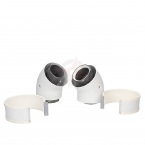 Vokera Pair of 45 Degree Standard Efficiency Flue Bends