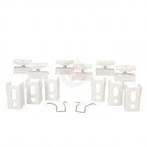 Revive White Spare Column Radiator Wall Mounting Brackets, Set of 6