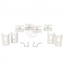 Revive White Spare Column Radiator Wall Mounting Brackets, Set of 4