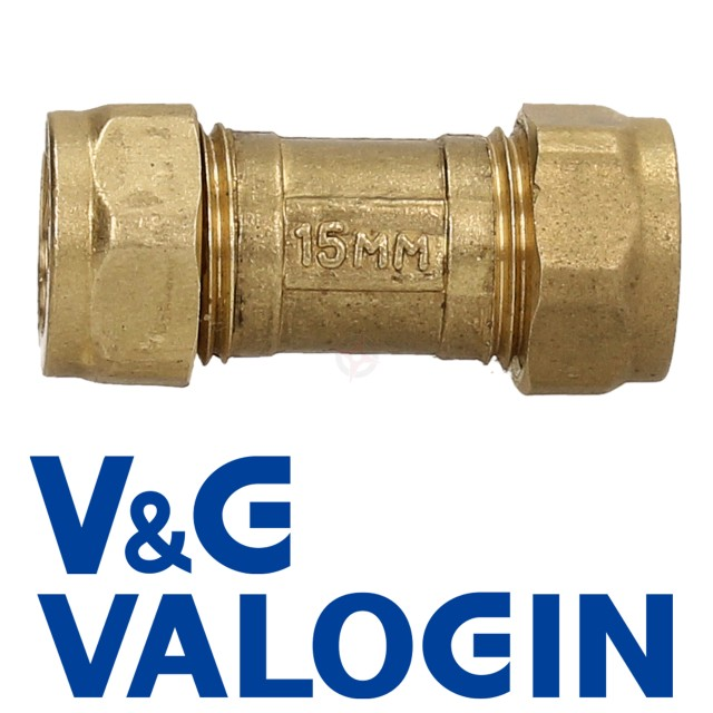 V&G 15mm Compression Single Check Valve