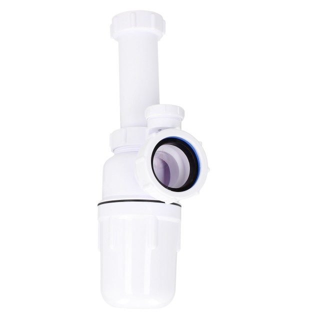 "Kimsion 1.1/2"" Plastic Anti-Siphonic Bottle Trap with 6"" Telescope"