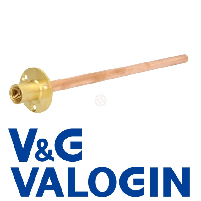 "V&G Hose Union 1/2"" Backplate c/w 15mm x 360mm Long Through Wall Tube"