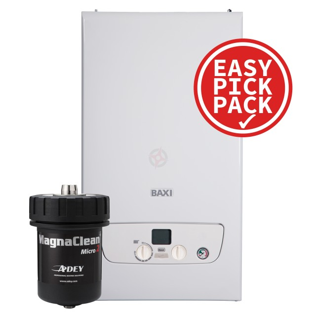 Baxi 818 (ErP) System Boiler with MagnaClean Micro 2 Filter, Easy Pick Pack